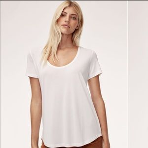 Aritzia Wilfred Free Valmere scoop-neck tee
